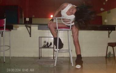 Фри денс танцьорка (снимка)